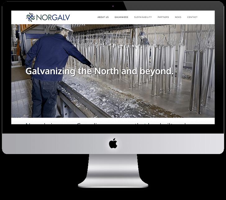 Image of Norgalv website