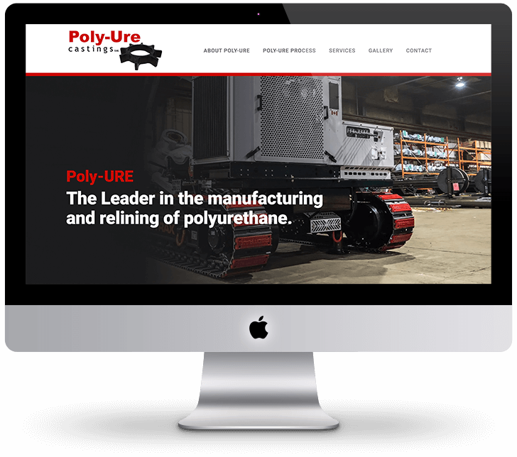 Image of polyure castings home page